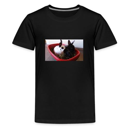 Warme Sachen mit dem Hasenlogo - Teenager Premium T-Shirt