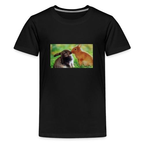 Zwilling kaninchen T-shirt - Teenager Premium T-Shirt