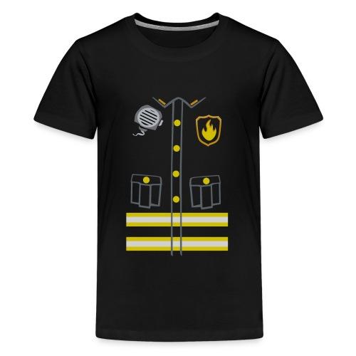 Fireman Costume - Dark edition - Teenage Premium T-Shirt