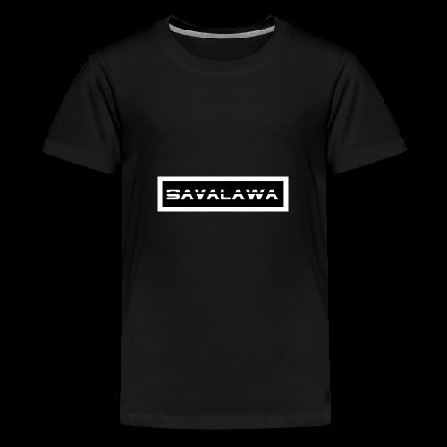 SavaLawa Schrift Schwarz/Weiß - Teenager Premium T-Shirt