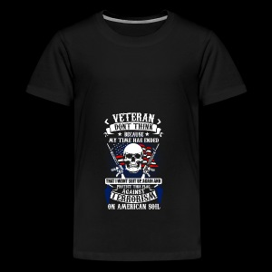 Veteran soldier terror terrorism skull army usa us - Teenager Premium T-Shirt