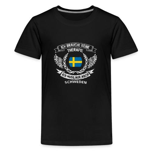 Schweden T-Shirt Urlaub - Teenager Premium T-Shirt