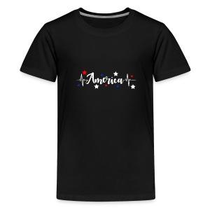 América 4th de Julio día de la Independencia E. U. - Camiseta premium adolescente
