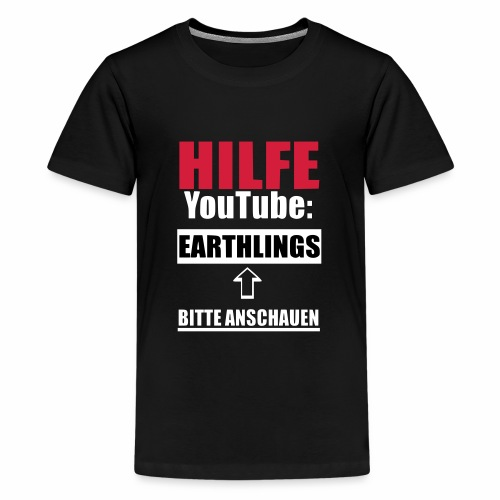 Vegan Earthlings Aktivismus - Teenager Premium T-Shirt
