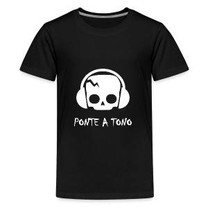 Logo Blanco - Camiseta premium adolescente