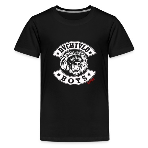 bachtalo boys logo weiss - Teenager Premium T-Shirt