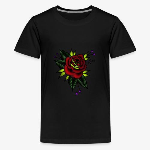 Traditional rose - Teenage Premium T-Shirt