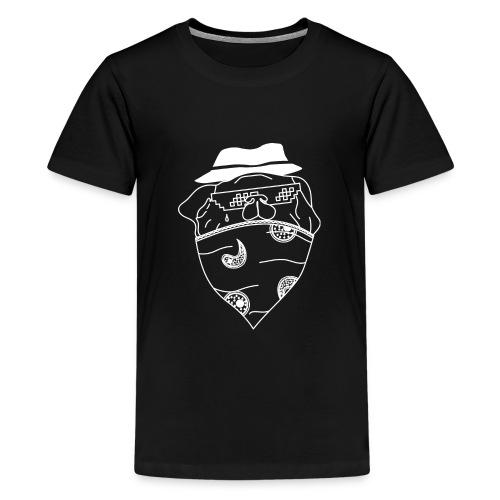 Pølsa The Thug / Pug Thug - Premium T-skjorte for tenåringer