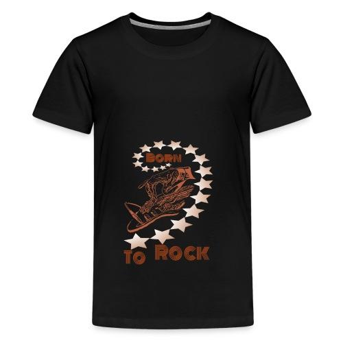 Born to Rock rost - Teenager Premium T-Shirt