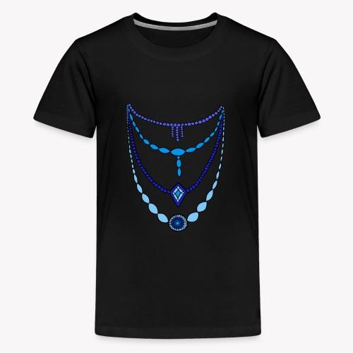 Kette blau by Syymbols - Teenager Premium T-Shirt