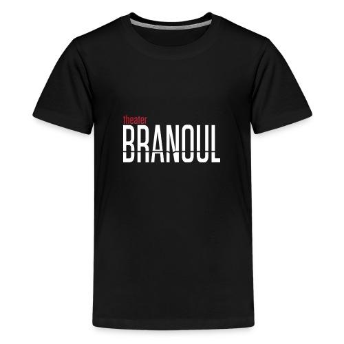 Branoul Logo rood wit - Teenager Premium T-shirt