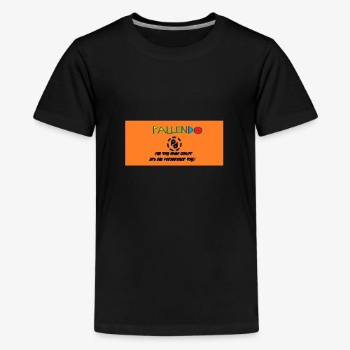 Pallendo Logo mit Schrift und Text - Teenager Premium T-Shirt