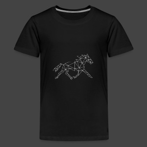 Geometrisch Paard - Teenager Premium T-shirt