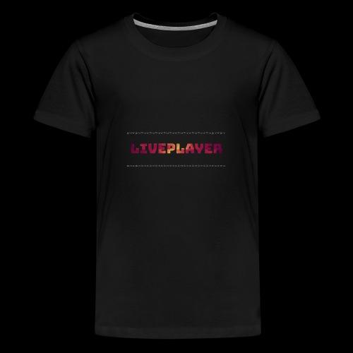 LivePlayer V.7 Weiße Umrandung - Teenager Premium T-Shirt