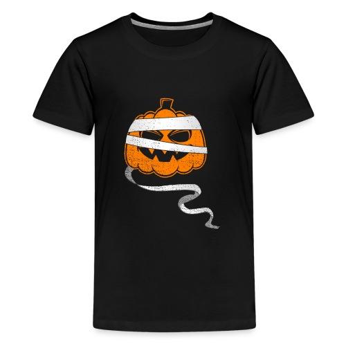 Halloween Bandaged Pumpkin - Teenager Premium T-Shirt