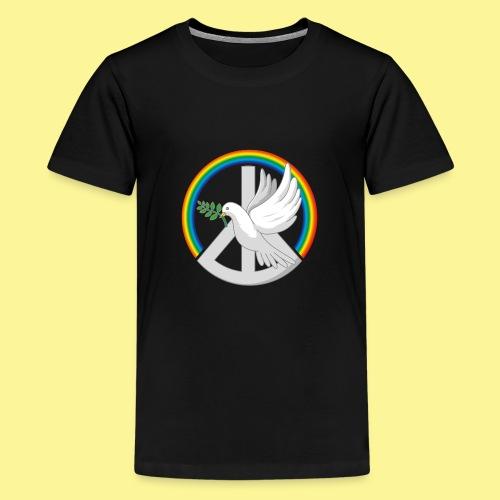 Rainbow Dove - Teenager Premium T-Shirt