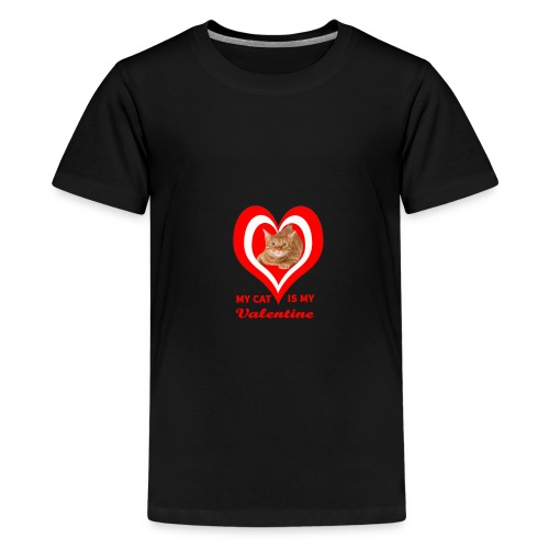 My Cat is my valentine 4 - Teenage Premium T-Shirt
