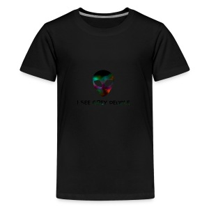 I SEE GREY PEOPLE - Teenage Premium T-Shirt