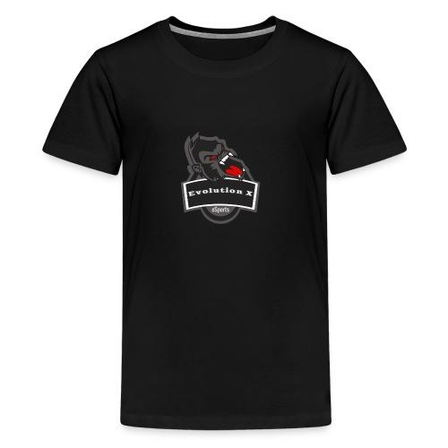 Evolution X Logo Grau - Teenager Premium T-Shirt