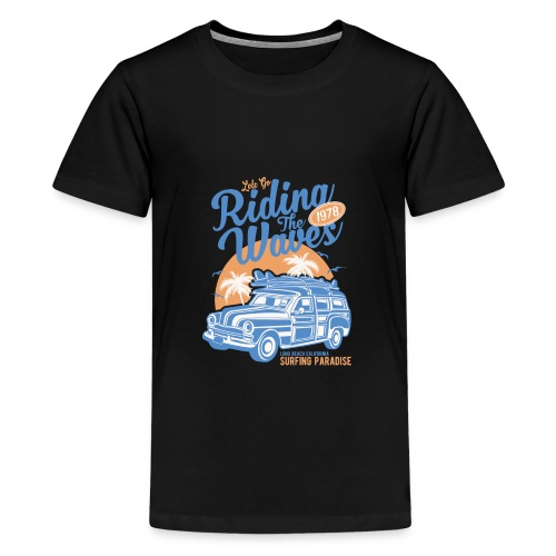 Riding The Waves Vintage Style - Teenage Premium T-Shirt