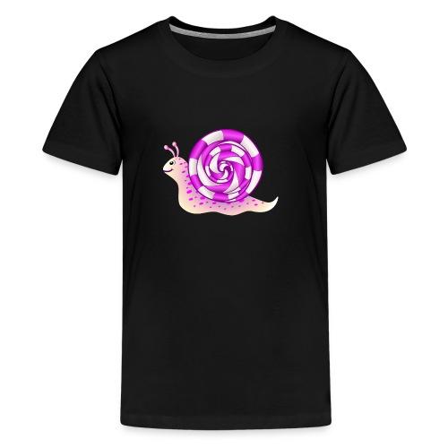 Rosa Schnecke - Teenager Premium T-Shirt