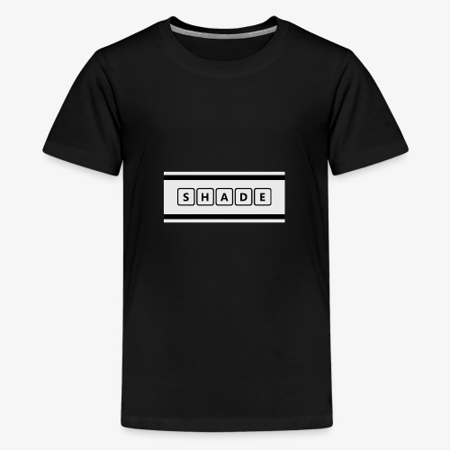 Shade Black - Premium-T-shirt tonåring