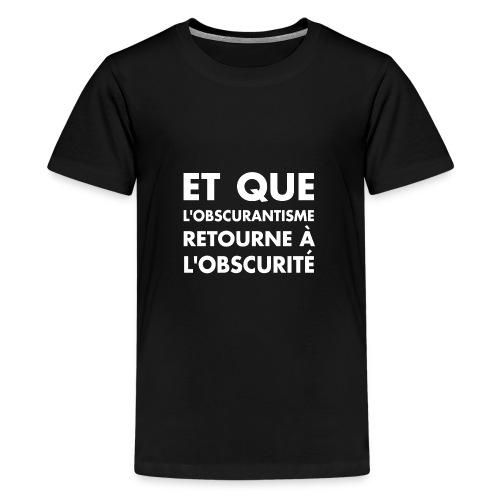 DEFAKATOR : Devise seule - T-shirt Premium Ado