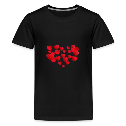Heart T-Shirt - Teenage Premium T-Shirt