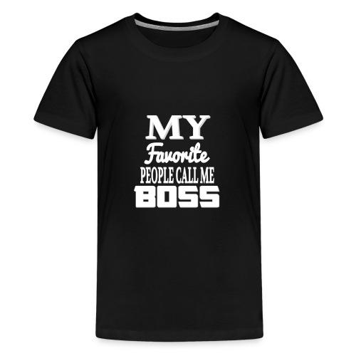 CallMeBoss - Premium-T-shirt tonåring
