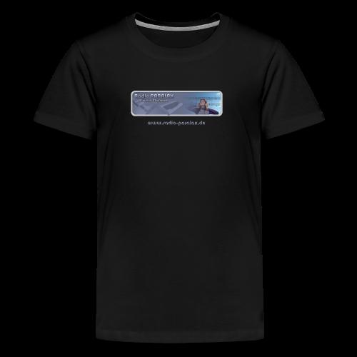 Radio PARALAX Classic-Logo mit Webadresse - Teenager Premium T-Shirt