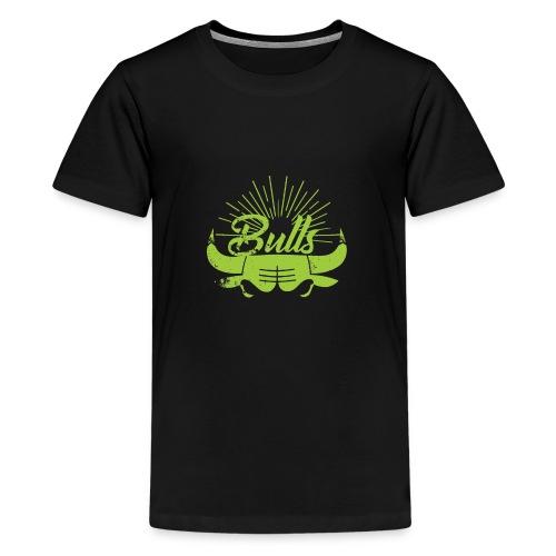 Toros verdes, Bulls BasketBall deporte - Camiseta premium adolescente