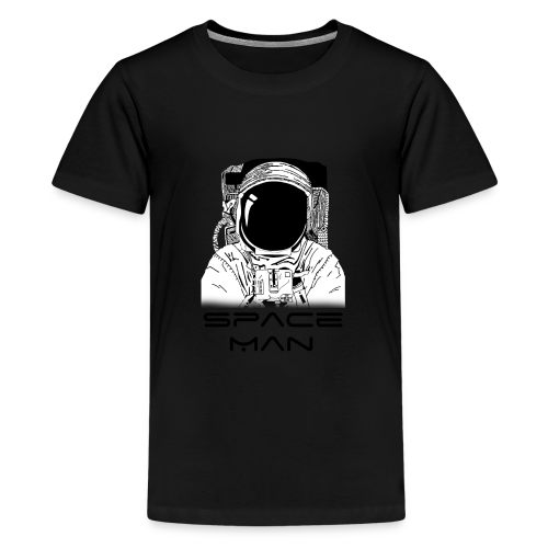 Space man black - Teenage Premium T-Shirt