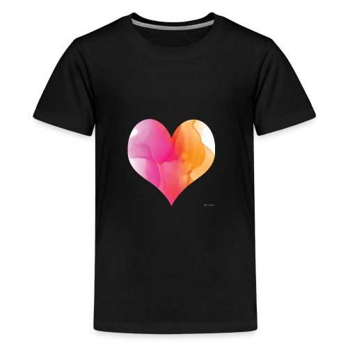 Love Heart Design - Teenage Premium T-Shirt