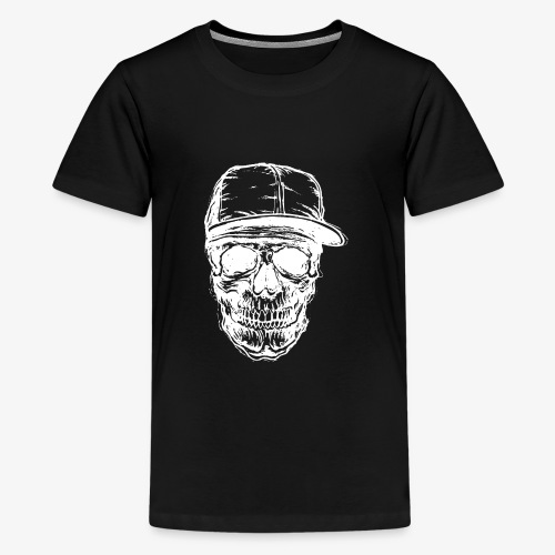 Crâne avec capuchon blanc | Designs Monkey - Mode - T-shirt Premium Ado
