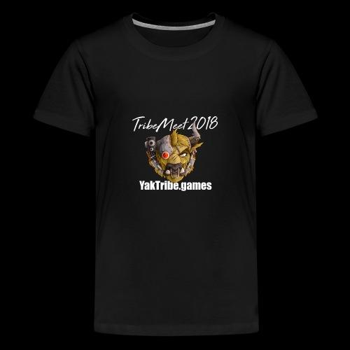 YakTribe Tribemeet 2018 Dark - Teenage Premium T-Shirt