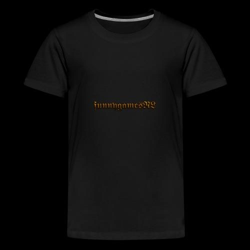 Cool Text funnygamesNL 276368389500691 - Teenager Premium T-shirt
