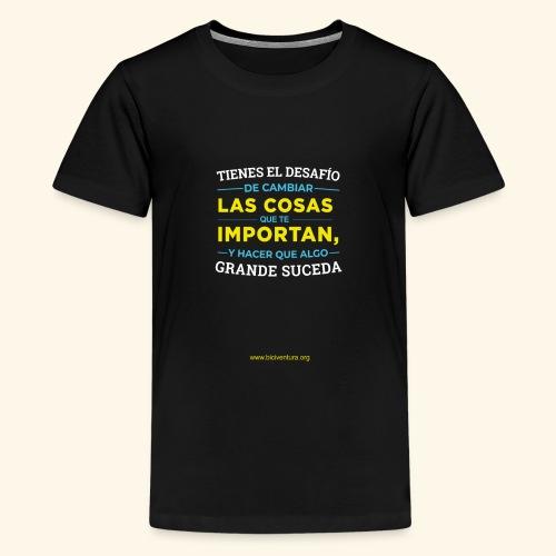Cambia las cosas - Camiseta premium adolescente