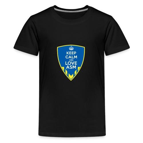 Blason Keep Calm And Love ASM - T-shirt Premium Ado