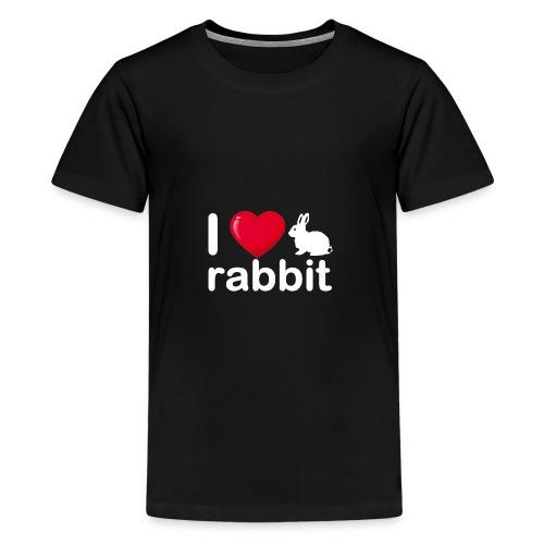 Zu nett Kaninchen i lieben weißes Kaninchen - Teenager Premium T-Shirt