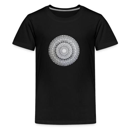 Mandala Black and White - Teenager Premium T-Shirt