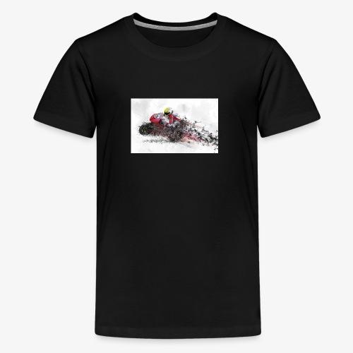 Motorradrennen. Das Geschenk für Motorradfans - Teenager Premium T-Shirt