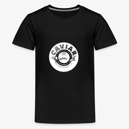 Caviar Black / White - Teenage Premium T-Shirt