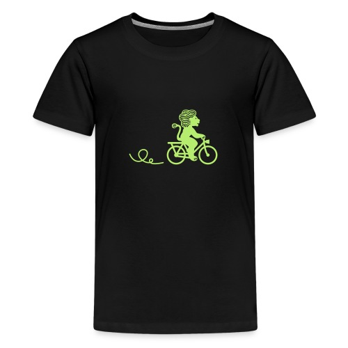 Züri-Leu beim Velofahren ohne Text - Teenager Premium T-Shirt