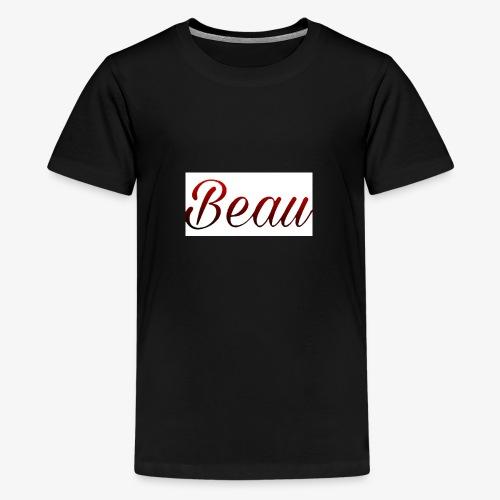itzBeau Beau with white background - Teenage Premium T-Shirt