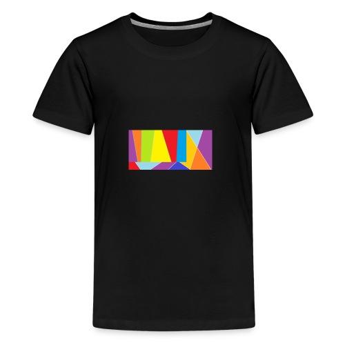 coler full emblem with black bakround - Premium-T-shirt tonåring
