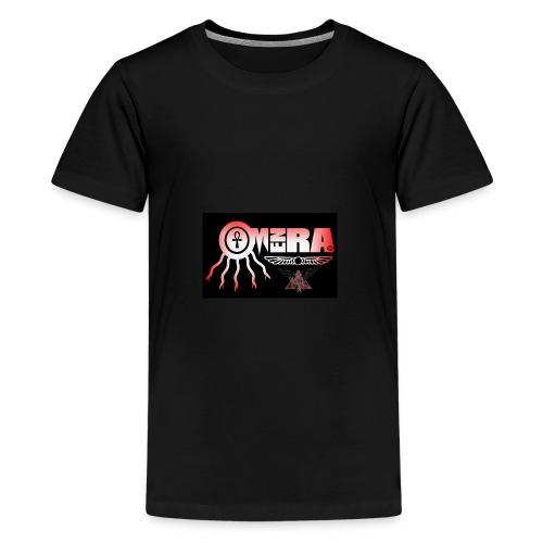 OMEN RA RED AND BLACK LOGO - Teenage Premium T-Shirt