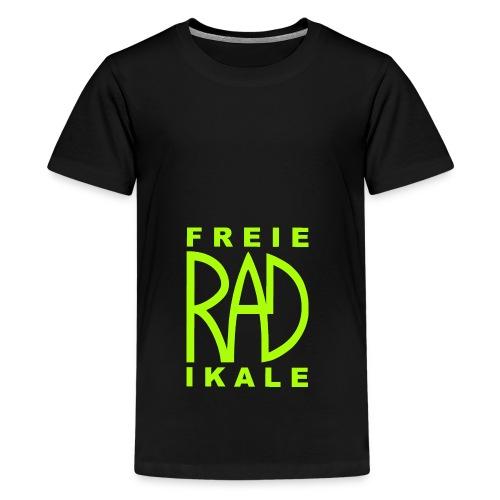Freie RADikale Logo Gruen - Teenager Premium T-Shirt