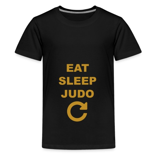 Eat sleep Judo repeat - Koszulka młodzieżowa Premium