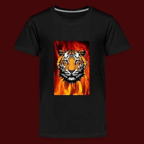 Fire Tiger - Teenage Premium T-Shirt