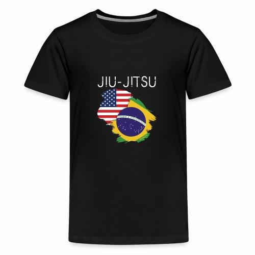 Jiu-jitsu: USA-Brazil - Camiseta premium adolescente